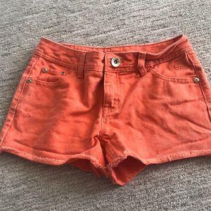 justice orange girls jean shorts